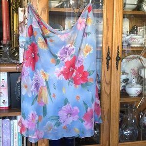 Soft flowing 100% silk skirt
